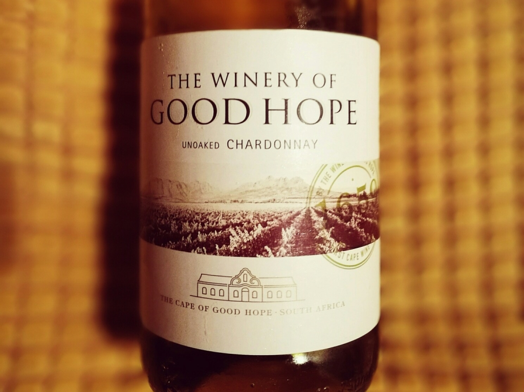Winery of Good Hope Unoaked Chardonnay Bottle