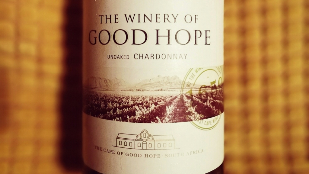 Winery of Good Hope Unoaked Chardonnay Bottle