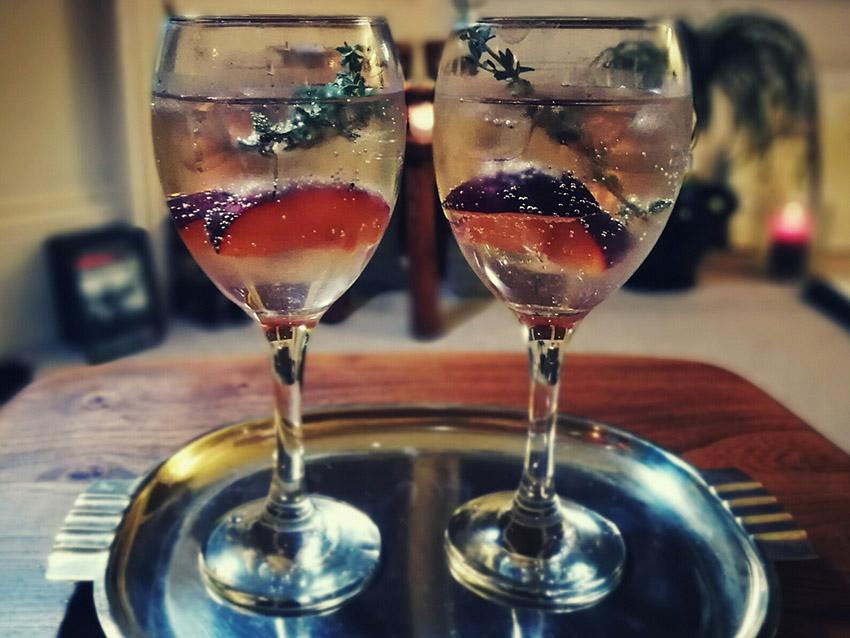 Aldi champagne prosecco thyme cocktails