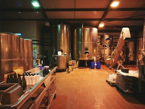 bolney vineyard fermentation room