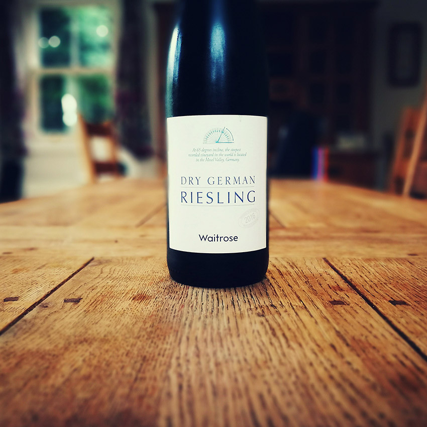 Waitrose German riesling wine