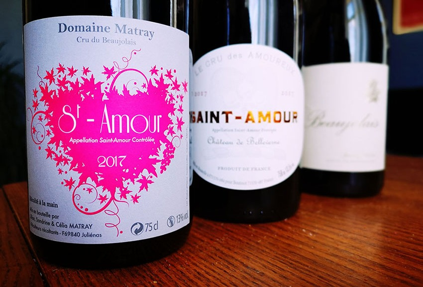 saint amour beaujolais valentine's day wine