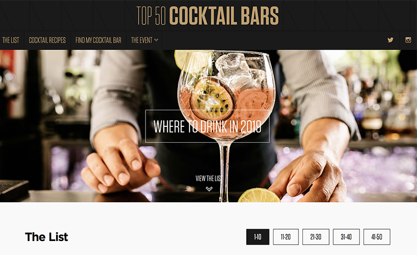 UK's top 50 cocktail bars